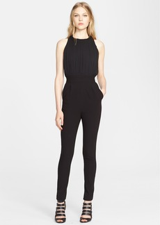 Alice + Olivia 'Angen' Mixed Media T-Back Jumpsuit