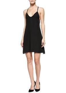Alice + Olivia Ashelna V-Neck Multi-Strap Flare Dress