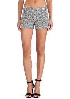 Alice + Olivia Cady Cuff Shorts in Black