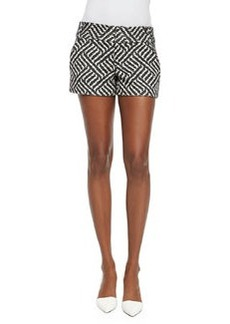 Alice + Olivia Cady Printed Structured Shorts