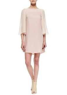 Alice + Olivia Caprice Flutter-Sleeve Dress