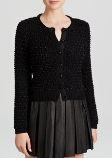 Alice + Olivia Cardigan - Pearl Novelty Stitched