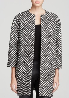 Alice + Olivia Coat - Shih Oversize Patterned