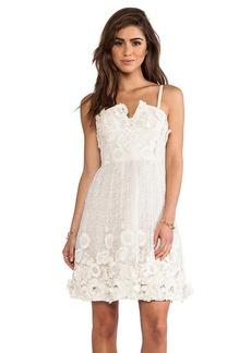 Alice + Olivia Devorah Bustier Mini Dress in Cream