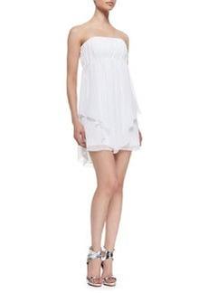 Alice + Olivia Dominick Draped Strapless Babydoll Dress