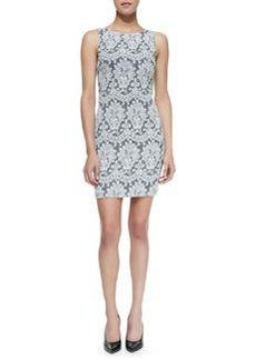 Alice + Olivia Donovan Lace Sleeveless Sheath Dress