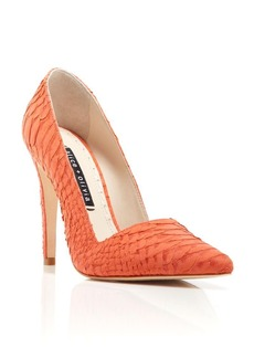 Alice + Olivia D'Orsay Pumps - Dina Snake-Embossed