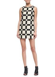 Alice + Olivia Dot Magnified-Check Shift Dress
