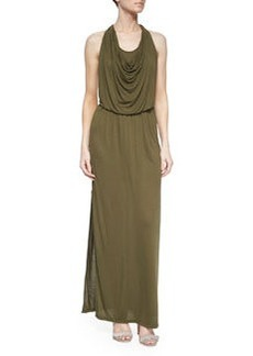 Alice + Olivia Draped Halter Maxi Dress