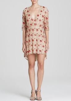 Alice + Olivia Dress - Arlie Embroidered Rose Silk