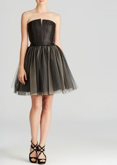 Alice + Olivia Dress - Kylie Leather and Tulle