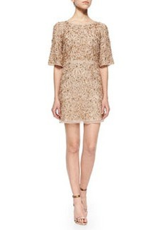 Alice + Olivia Drina Embellished Mesh Dress
