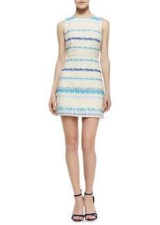 Alice + Olivia Eli Boat-Neck Sleeveless Flare Dress