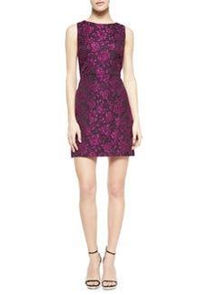 Alice + Olivia Eli Floral-Jacquard Sleeveless Dress