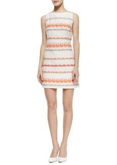 Alice + Olivia Eli Knit Boat-Neck Dress