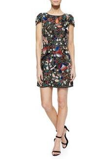 Alice + Olivia Ellen Beaded Sequined Mesh Dress