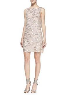 Alice + Olivia Elliotte Silk Embellished Sleeveless Dress