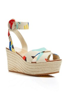 Alice + Olivia Espadrille Wedge Sandals - Roberta Colorblock