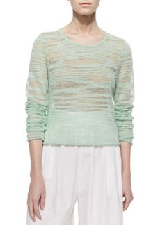 Alice + Olivia Fallon Sheer Knit Sweater