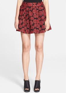 Alice + Olivia 'Fizer' Box Pleat Rose Brocade Skirt