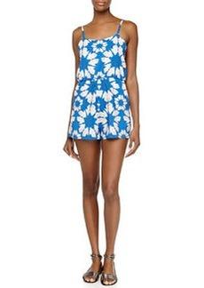 Alice + Olivia Floral-Print Flutter Short Jumpsuit