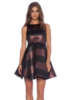 Alice + Olivia Foss Cutout Back Dress