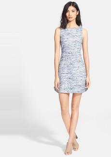 Alice + Olivia 'Gena' Tweed Sheath Dress