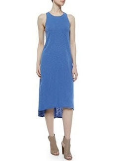 Alice + Olivia High-Low Midi Shift Dress, French Blue