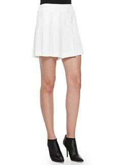 Alice + Olivia High-Waist Box-Pleated Shorts
