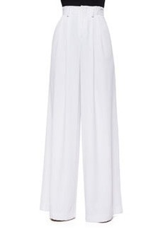 Alice + Olivia High-Waist Pleated Wide-Leg Pants