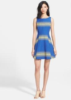 Alice + Olivia 'Holis' Cotton Fit & Flare Dress