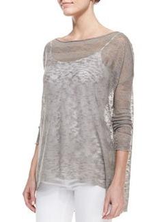 Alice + Olivia Javi Sheer Burnout Sweater