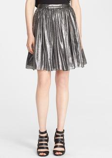 Alice + Olivia 'Lizzie' Pleated Metallic Skirt