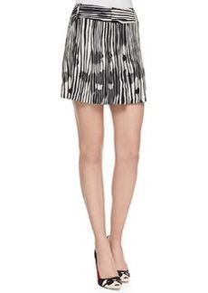 Alice + Olivia Long Printed Wide-Leg Shorts