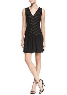 Alice + Olivia Lyla Beaded Drop-Skirt Dress