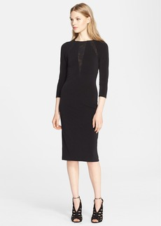 Alice + Olivia 'Maris' Sheer Sunburst Jersey Dress