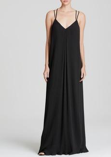 Alice + Olivia Maxi Dress - Bella Pleated Silk Strappy Back