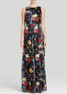 Alice + Olivia Maxi Dress - Elis Gathered Silk