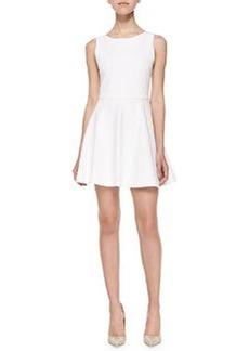 Alice + Olivia Monah Sleeveless Jacquard A-Line Dress
