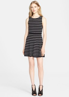 Alice + Olivia 'Monah' Stripe Fit & Flare Sweater Dress