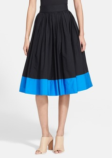 Alice + Olivia 'Nako' Colorblock A-Line Midi Skirt