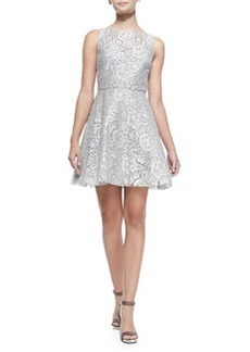 Alice + Olivia Natalia Open-Back Lace A-Line Dress