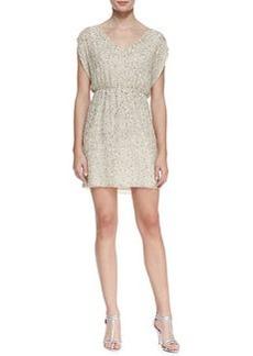Alice + Olivia Nelson Sequined Silk Blouson Dress