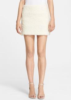 Alice + Olivia 'Neville' Textured Knit Miniskirt
