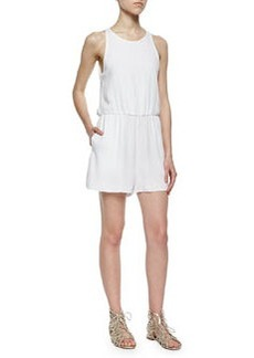 Alice + Olivia Open-Back Sleeveless Romper, White
