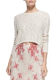 Alice + Olivia Open Cross-Back Knit Sweater