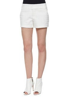Alice + Olivia Patterned Cady Structured Shorts