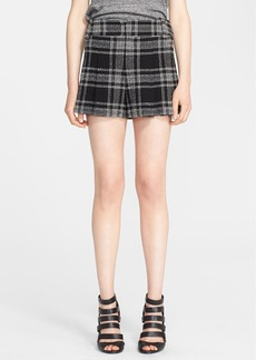 Alice + Olivia Plaid High Waist Shorts