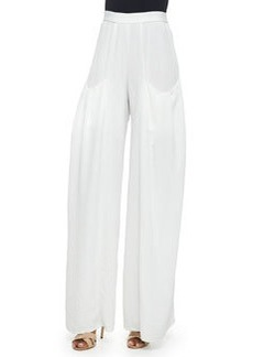 Alice + Olivia Pleated-Pocket Wide-Leg Pants