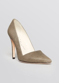 Alice + Olivia Pointed Toe High Heel Pumps - Dina